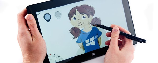 Windows 8 Pen Calibration - Picture of freehand sketch in the Microsoft Surface Pro