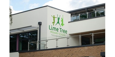 Lime Tree School Signage - Wall mural at completion of works
