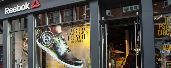 Reebok Pump Window Display - Window display at Covent Garden branch