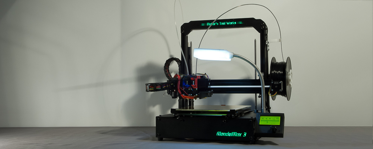 The MendelMax 3 3D printer - The finished printer unit with all custom parts added