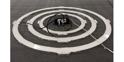 Reebok Pump Window Display - Assembled light rings during assembly and testing