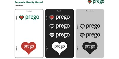 Prego branding - Page from the Prego Corporate Identity Manual