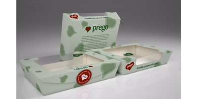 Prego packaging - Large salad boxes