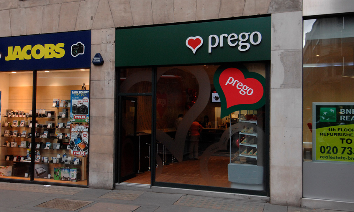 Prego - Cannon Street Store - Store opening day - exterior