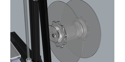 The MendelMax 3 3D printer - 3D view of the assembled spool holder
