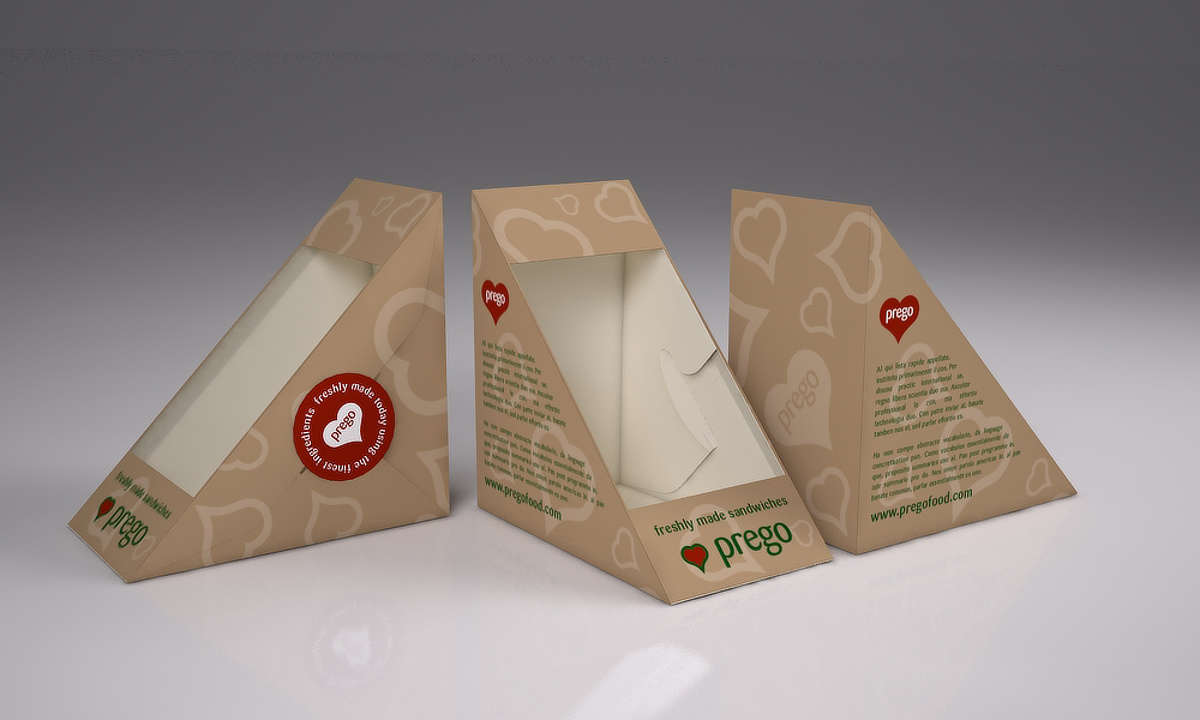 Prego packaging - Deep fill sandwich boxes