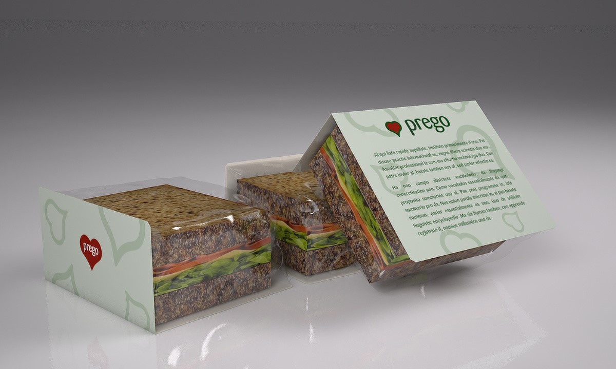 Prego packaging - Stack sandwich wrapper