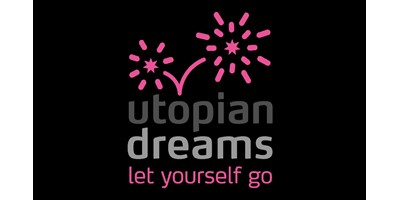 Utopian Dreams Branding - Square variant of the final logo with strapline