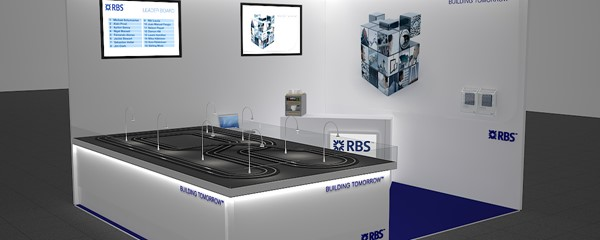 RBS Exhibition Stand - Final 3D render of model design - Overview