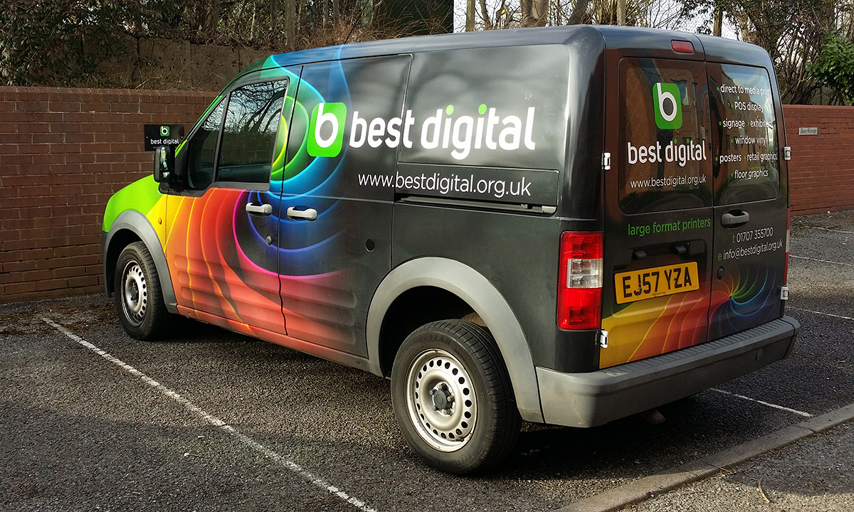 Best Digital Branding - Branding design applied to vehicle livery