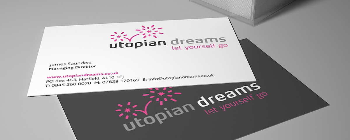 Utopian Dreams Branding - New business card design