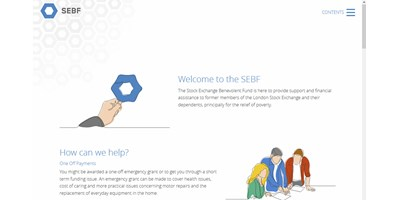 SEBF Website Redesign - Screenshot of the home page showing masthead and animated illustration