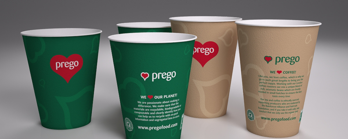Prego packaging - Assorted cups