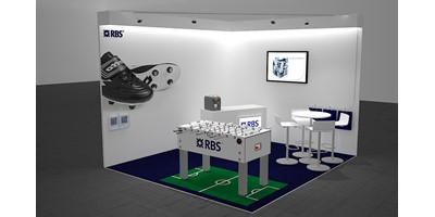 RBS Mannheim Exhibition Stand - Football - 3D Model of proposed exhibition stand