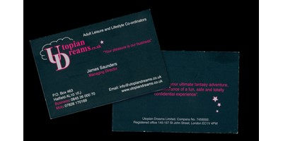 Utopian Dreams Branding - Original branding for business card