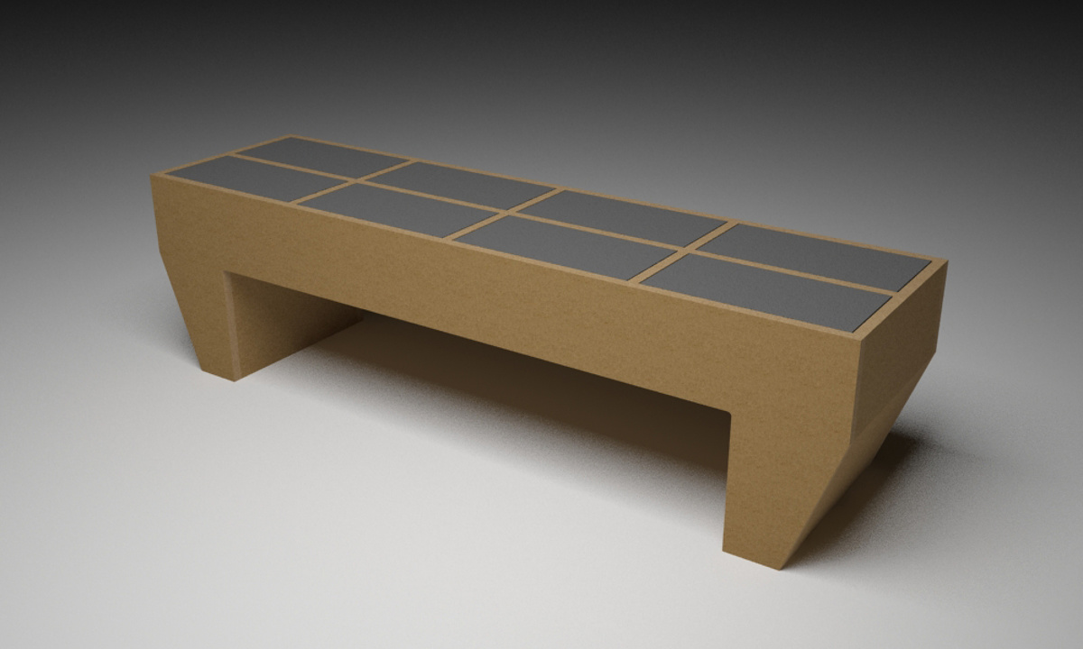 Sarah Lucas Furniture - E - Wide Low Table Alternative Pattern