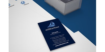 Millharbour Branding - Close-up of business cards