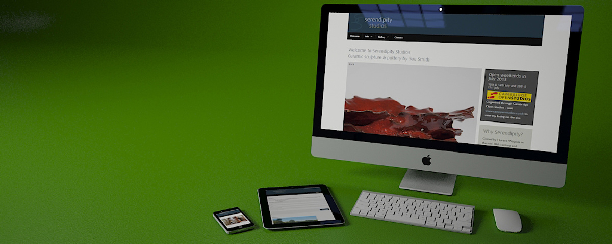 Serendipity Studios Website - Touch enabled and device independent website for smartphones, tablets and desktops
