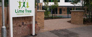 Lime Tree School Signage - Driveway sign at completion of works