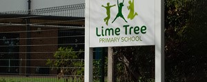 Lime Tree School Signage - Public entrance sign at completion of works