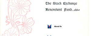 Stock Exchange Benevolent Fund - Screenshot of the old website that this design replaced