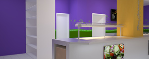 Bovis Construction Staff Canteen - Salad and self-serve area